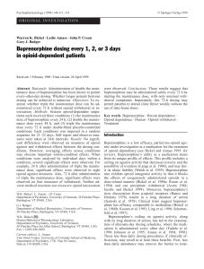 Buprenorphine dosing every 1, 2, or 3 days in opioid