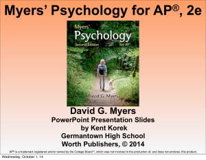 Myers` Psychology for AP®, 2e