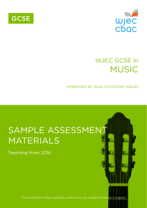 GCSE Music Sample Assessment Materials
