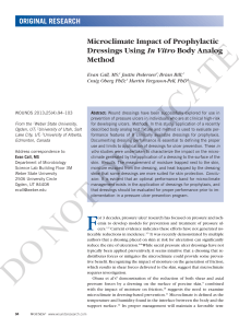 Microclimate Impact of Prophylactic Dressings Using
