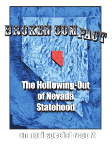 The Hollowng-Out of Nevada Statehood The Hollowing