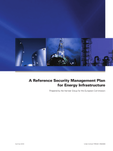 A Reference Security Management Plan for Energy
