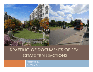 drafting of documents of real estate transactions