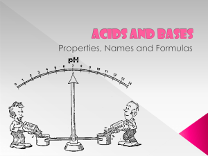 7.2 Acids and Bases