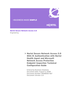 Nortel Secure Network Access 2.0 802.1X