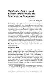 The Schumpeterian Entrepreneur
