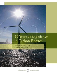 10 Years of Experience in Carbon Finance