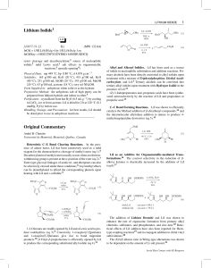 Lithium Iodide Original Commentary - Groupe Charette