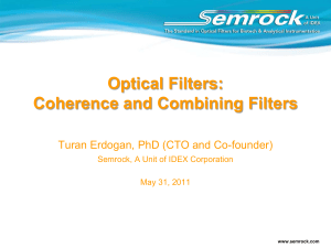 Coherence and Combining Filters