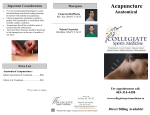 Acupuncture Oct2016 - Collegiate Sports Medicine