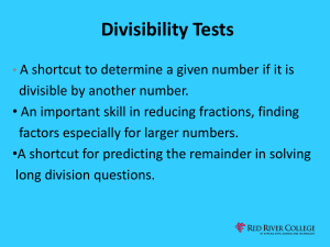 Divisibility Test