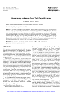 Gamma-ray emission from Wolf