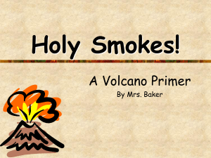 Volcano Notes - The Science Queen