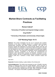 Market-Share Contracts as Facilitating Practices