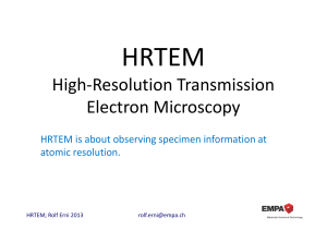 High-Resolution Transmission Electron Microscopy