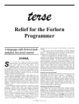 Relief for the Forlorn Programmer