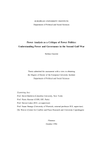 Power Analysis as a Critique of Power Politics