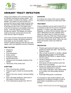 urinary tract infection - Chinese Community Health Resource Center