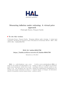 Measuring inflation under rationing: A virtual price approach - Hal-SHS