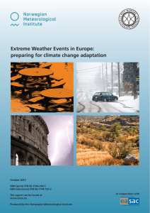 Extreme Weather Events in Europe: preparing for climate change