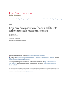 Reductive decomposition of calcium sulfate with carbon monoxide