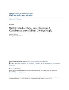 Strategies and Methods in Mediation and Communication with High