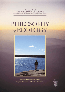 Philosophy of Ecology - sikkim university library