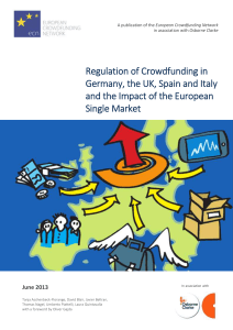 Regulation of CrowdFunding in Germany, the UK, Spain and Italy