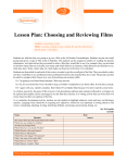Lesson Plan: Choosing and Reviewing Films