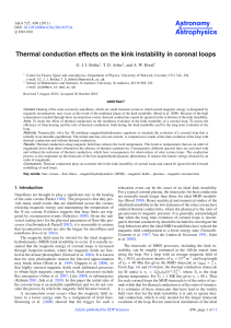Thermal conduction effects on the kink instability in coronal loops