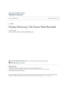 Frontier Democracy: The Turner Thesis Revisited