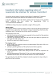 Form: Notice of suspension by employer for serious misconduct