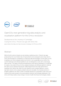 OpenCB a next generation big data analytics and visualisation