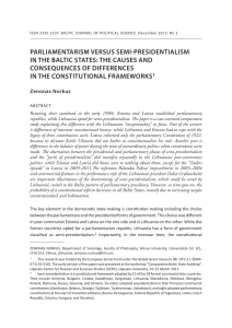 parliamentarism versus semi-presidentialism in the baltic states