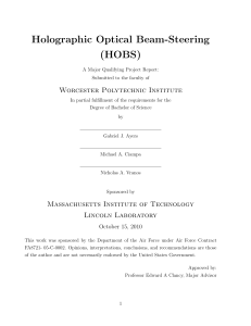 Holographic Optical Beam-Steering (HOBS)