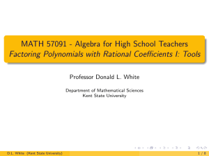 Episode 3 Slides - Department of Mathematical Sciences