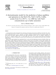 A thermodynamic model for the prediction of phase equilibria and