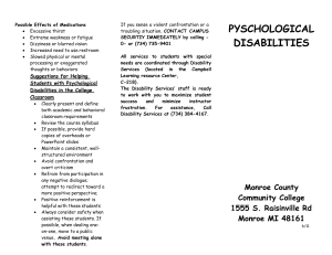 pyschological disabilities - Monroe County Community College