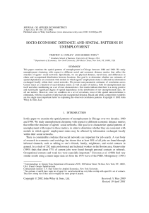 Socio-economic distance and spatial patterns in unemployment