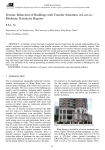 Seismic Behaviour of Buildings with Transfer Structures in Low