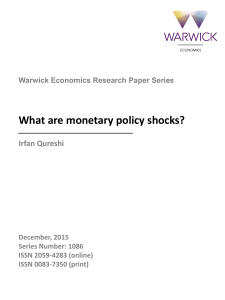 What are monetary policy shocks?