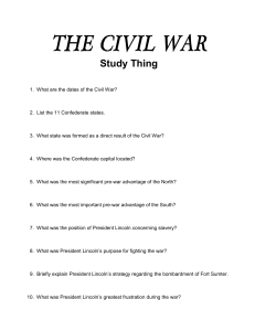 the civil war - apush-xl