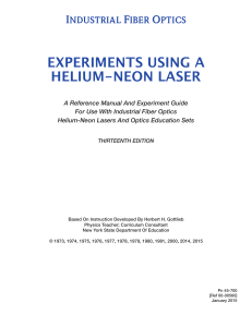 experiments using a helium-neon laser