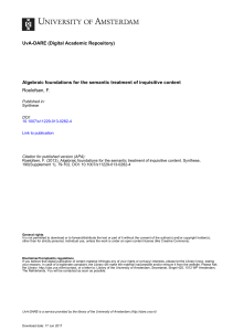 Algebraic foundations for the semantic treatment of inquisitive content