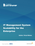 IT Management System Scalability for the Enterprise