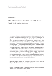 The Future of Korean Buddhism Lies in My Hands