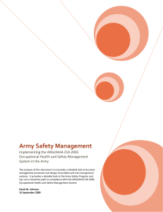 Army Safety Management - The Tactical Safety Network