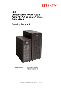 UPS Uninterruptible Power Supply Adira (10 kVA, 20 kVA 3