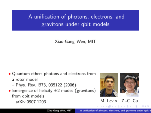 A unification of photons, electrons, and gravitons under qbit