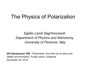 The Physics of Polarization